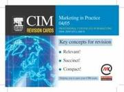 Cover of: CIM Revision Cards | Marketing Knowledge