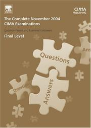 Cover of: CIMA November 2004 Q & As: The Complete Set - Final Level (CIMA November 2004 Q&As)