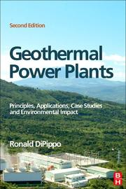 Cover of: Geothermal Power Plants | Ronald DiPippo