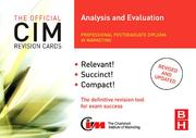 Cover of: CIM Revision Cards Analysis and Evaluation, Second Edition (Cim Revision Cards) | Karen Beamish