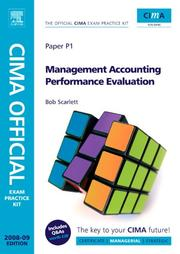 Cover of: CIMA Official Exam Practice Kit Management Accounting Performance Evaluation | Robert Scarlett