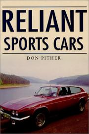 Cover of: Reliant Sportscars (Sutton's Photographic History of Transport)