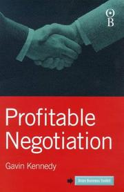 Cover of: Profitable Negotiation (Orion Business Toolkit) | Gavin Kennedy