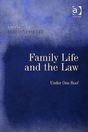 Cover of: Family Life and the Law | Rebecca Probert
