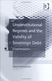 Cover of: Unconstitutional Regimes and the Validity of Sovereign Debt