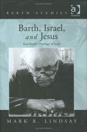 Cover of: Barth, Israel, and Jesus (Barth Studies) | Mark R. Lindsay