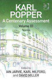 Cover of: Karl Popper