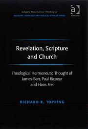 Cover of: Revelation, Scripture and Church | Richard R. Topping