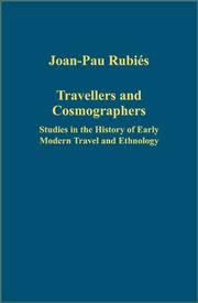Cover of: Travellers and Cosmographers | Joan-Pau Rubies