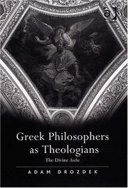 Cover of: Greek Philosophers As Theologians | Adam Drozdek