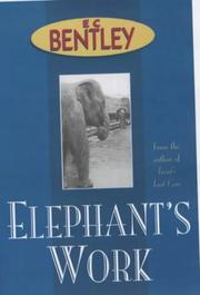 Cover of: Elephant's Work