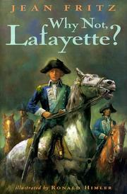 Cover of: Why not, Lafayette?