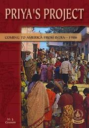 Cover of: Priya's Project: Coming to America from IndiaÖ1986 (Cover-to-Cover Chapter 2 Books: Coming to America)