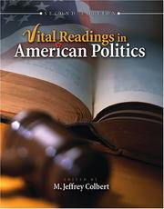 Cover of: Vital Readings in American Politics | M. Jeffrey Colbert