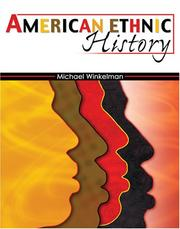 Cover of: American Ethnic History