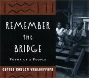 Cover of: Remember the bridge: poems of a people
