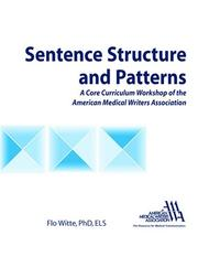 Cover of: Sentence Structure | American Medical Writers Association
