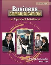 Cover of: BUSINESS COMMUNICATION | Richard D Featheringham