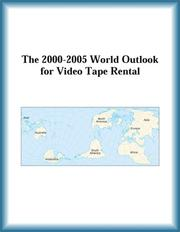 Cover of: The 2000-2005 World Outlook for Video Tape Rental (Strategic Planning Series) | Research Group