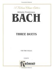 Cover of: Three Duets for Two Violas