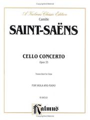 Cover of: Cello Concerto, Op. 33