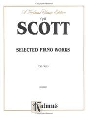 Cover of: Selected Piano Works