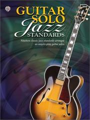 Cover of: Guitar Solo Jazz Standards (Guitar Solo) |