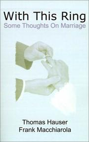 Cover of: With This Ring: Some Thoughts on Marriage