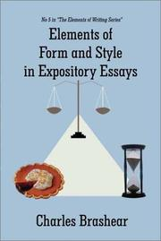 Cover of: Elements of Form and Style in Expository Essays