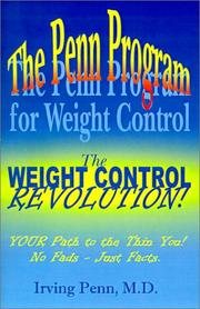 Cover of: The Penn Program for Weight Control | Penn, Irving.