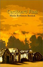 Cover of: Cardboard Flats | Marie Robinson Bostick
