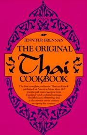 Cover of: The original Thai cookbook | Jennifer Brennan