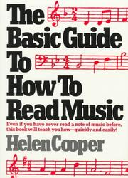 Cover of: The basic guide to how to read music | Cooper, Helen