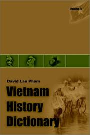 Cover of: Vietnam History Dictionary