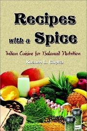 Cover of: Recipes With a Spice | Kusum L. Gupta