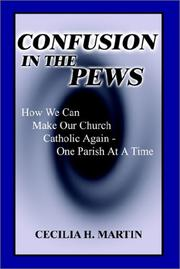 Cover of: Confusion in the Pews | Cecilia H. Martin