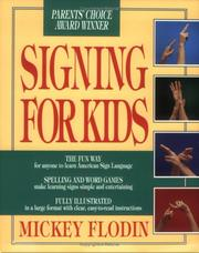 Cover of: Signing for Kids