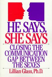 Cover of: He says, she says