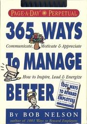 Cover of: 365 Ways to Manage Better Calendar (Page-a-Day Perpetuals)