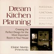 Cover of: Dream kitchen planning