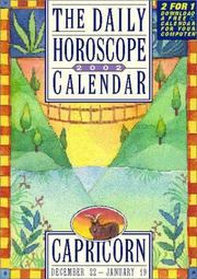 Cover of: Capricorn Page-A-Day Horoscope Calendar 2002 (Dec 22-Jan 19)
