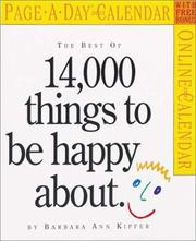Cover of: The Best of 14,000 Things to be Happy About Page-A-Day Calendar 2008