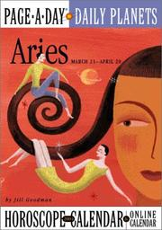 Cover of: Aries Page-A-Day Daily Planets Horoscope Calendar 2004