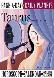 Cover of: Taurus Page-A-Day Daily Planets Horoscope  Calendar 2004 (Page-A-Day(r) Daily Planets Horoscope Calendars)