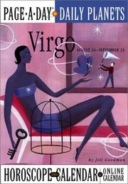 Cover of: Virgo Page-A-Day Daily Planets Horoscope  Calendar 2004 (Page-A-Day(r) Daily Planets Horoscope Calendars)