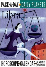Cover of: Libra Page-A-Day Daily Planets Horoscope Calendar 2004 (Page-A-Day(r) Daily Planets Horoscope Calendars)