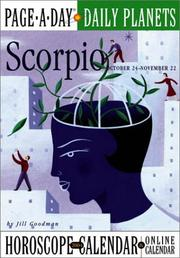 Cover of: Scorpio Page-A-Day Daily Planets Horoscope Calendar 2004 (Page-A-Day(r) Daily Planets Horoscope Calendars)