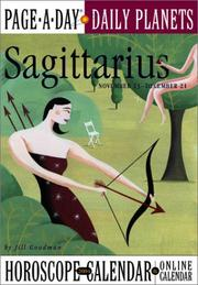 Cover of: Sagittarius Page-A-Day Daily Planets Horoscope Calendar 2004 (Page-A-Day(r) Daily Planets Horoscope Calendars)