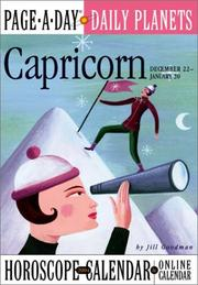 Cover of: Capricorn Page-A-Day Daily Planets Horoscope  Calendar 2004 (Page-A-Day(r) Daily Planets Horoscope Calendars) | Jill Goodman