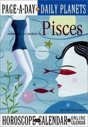 Cover of: Pisces Page-A-Day Daily Planets Horoscope  Calendar 2004 (Page-A-Day(r) Daily Planets Horoscope Calendars)
